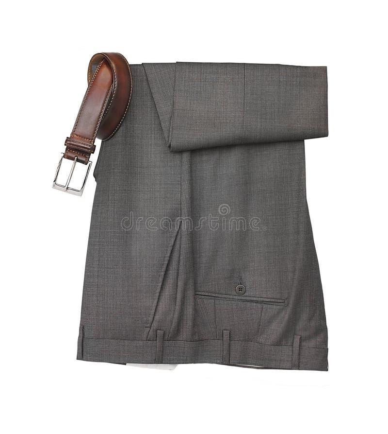 Men's smart dress pants and belt royalty free stock images