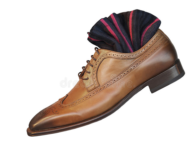 Download Men's Smart Dress Shoes And Socks Stock Photo - Image: 21412696