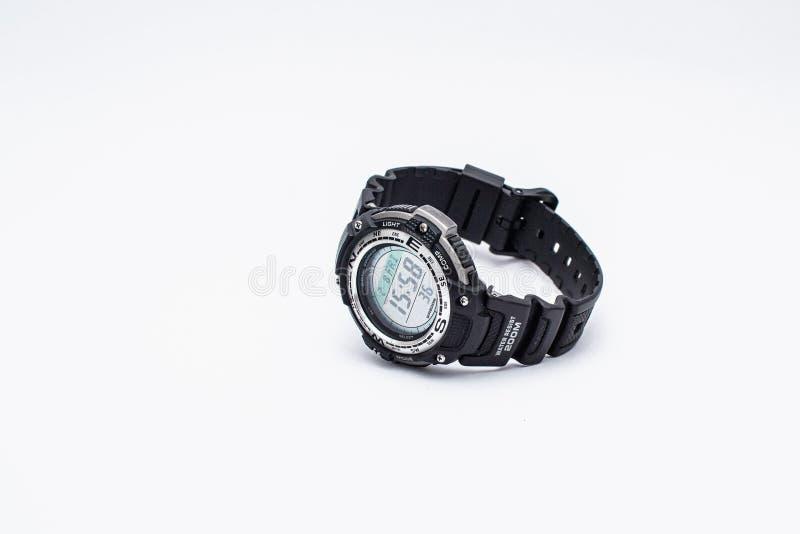 Sport watch, white background stock photos