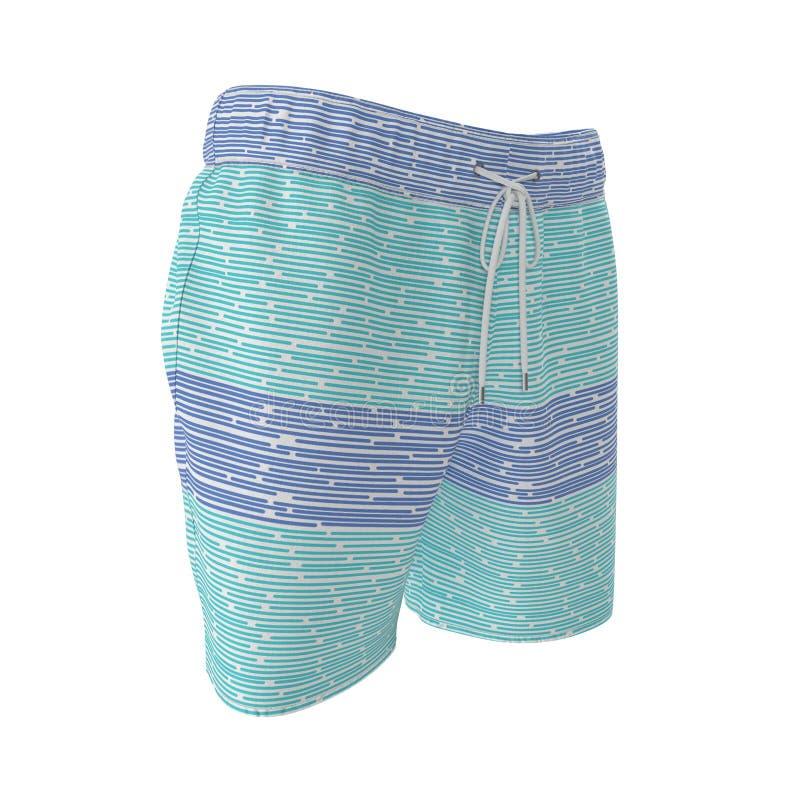 Mens Swim Trunks Peeled Banana Art Blue Background Beach Board Shorts
