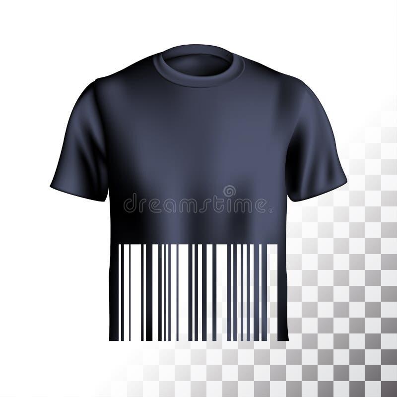 Men s t-shirt design barcode stock illustration