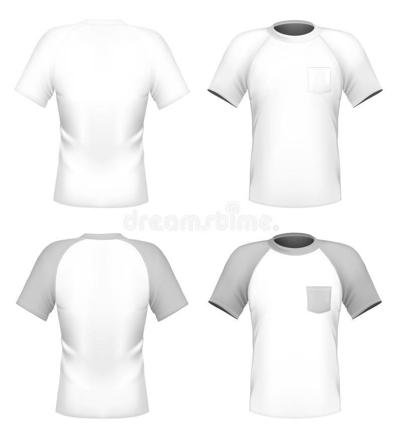 Mens Tshirt Design Template With Pocket Stock Vector - Pocket t shirt template