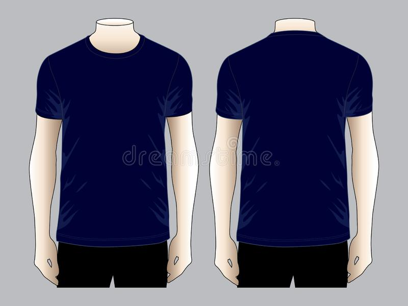 Navy Blue T Shirt Vector For Template Stock Illustration