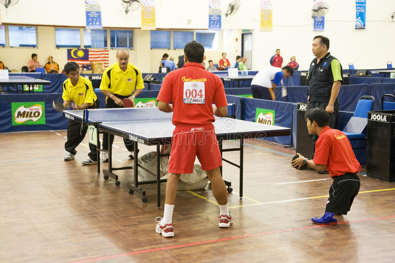 Download Men's Table Tennis For Disabled Persons Editorial Photo - Image: 10568726