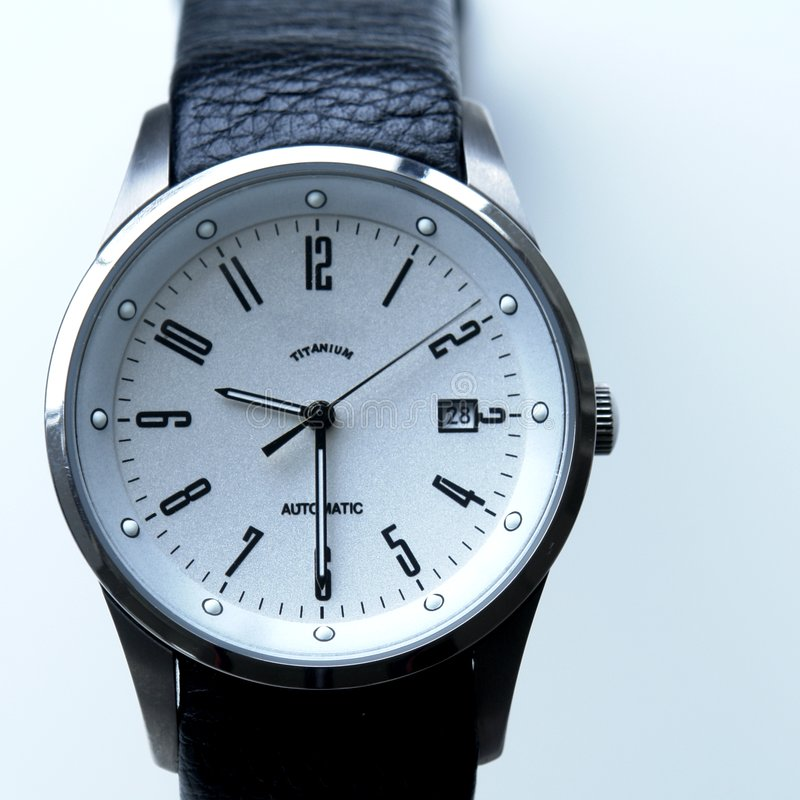 Men's Titanium Watch royalty free stock photography