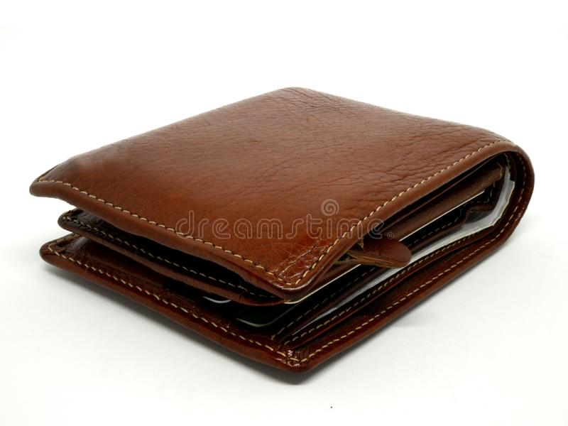 Men`s Wallet isolated on white background royalty free stock images