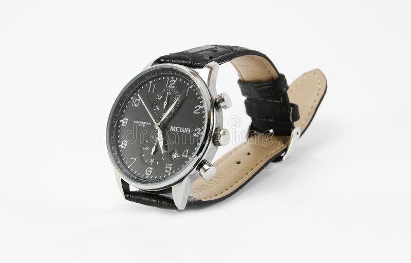 Men's Watch - Leather Strap, White Dial Free Public Domain Cc0 Image