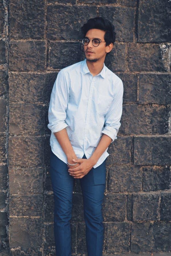 Men's White Button-up Dress Shirt stock photos