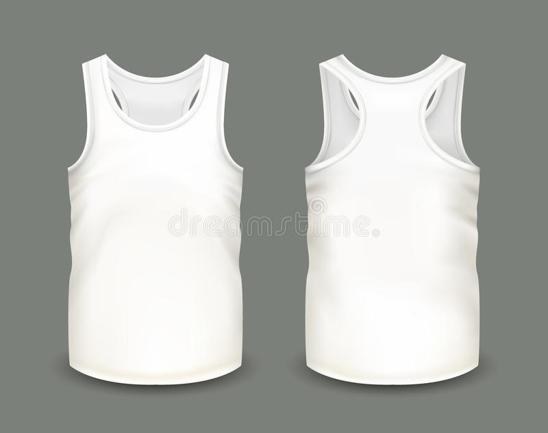 Mens white tank top without sleeves in front and back views vector download mens white tank top without sleeves in front and back views vector maxwellsz