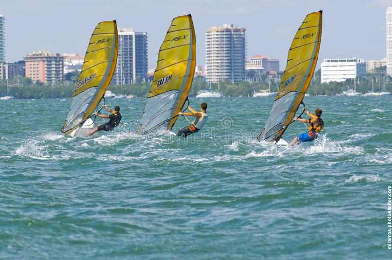 Download Men's Windsurfing Finals At The 2013 ISAF World Sailing Cup In M Editorial Stock Photo - Image: 29021583
