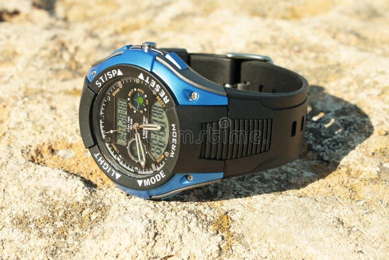 Men's wristwatch. royalty free stock photo