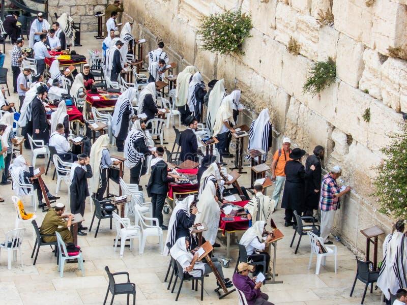 Men' sección de s de la pared occidental en Jerusalén, Israel fotos de archivo