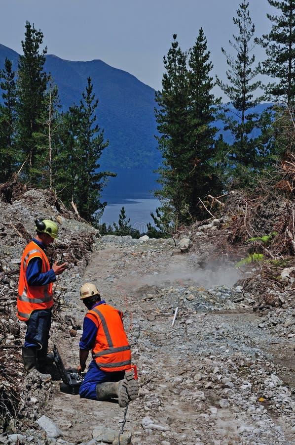 Seismic reflective survey stock photography