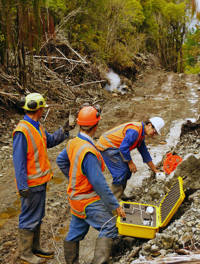 Seismic reflective survey stock images