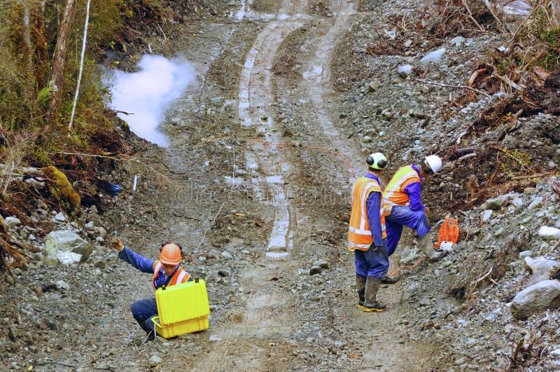 Seismic reflective survey royalty free stock photo