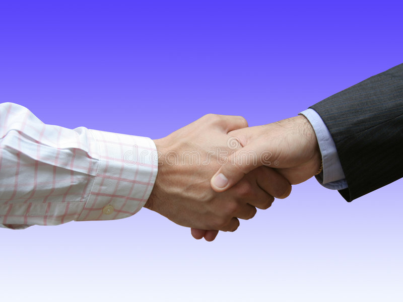 Men Shaking Hands royalty free stock photography