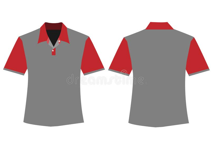 Men shirt design without button stock illustration