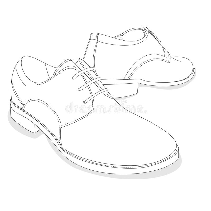 Dress Isolated Leather Shoes Stock Illustrations \u2013 651 Dress