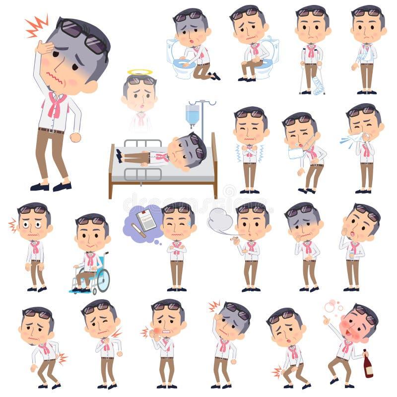 Men_sickness do meio do produtor ilustração do vetor