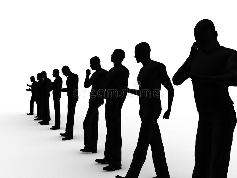Men Silhouette stock photo