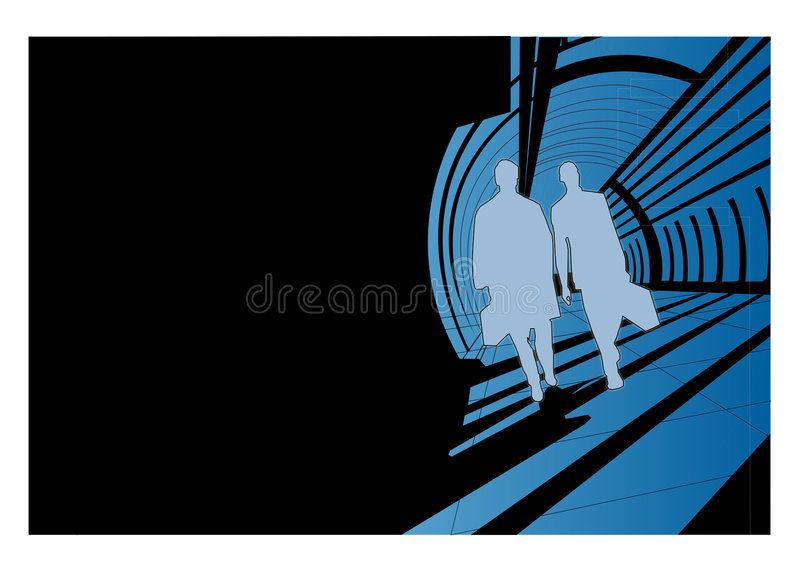 Download Men silhouettes walking stock vector. Illustration of traveling - 4008867
