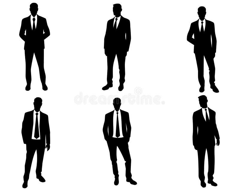 Men silhouettes on white background vector illustration