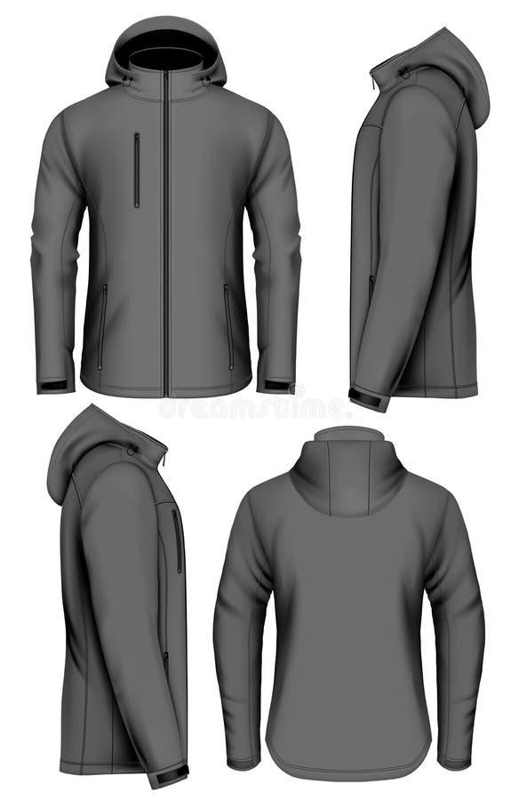 Free Men Softshell Jacket Vector Illustration Royalty Free Stock Photos - 85813178