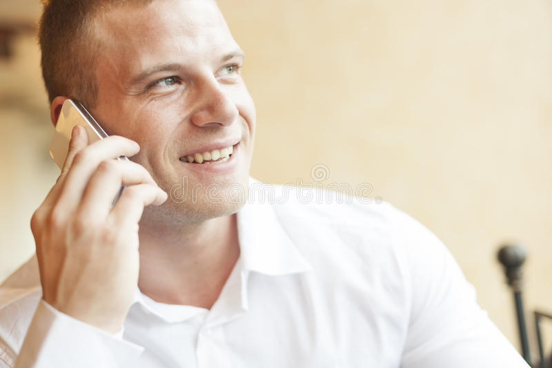 Men Speaking On Smartphone Royalty Free Stock Photo