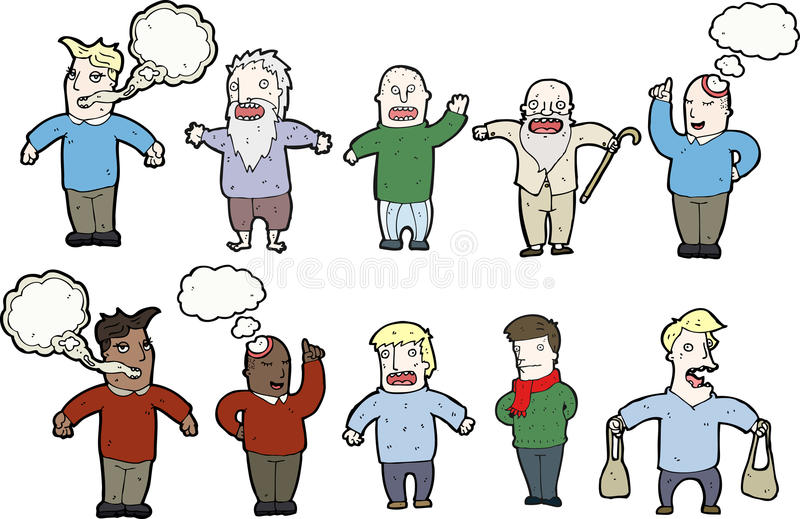 Download Men with speech bubbles stock illustration. Image of drawing - 21323784