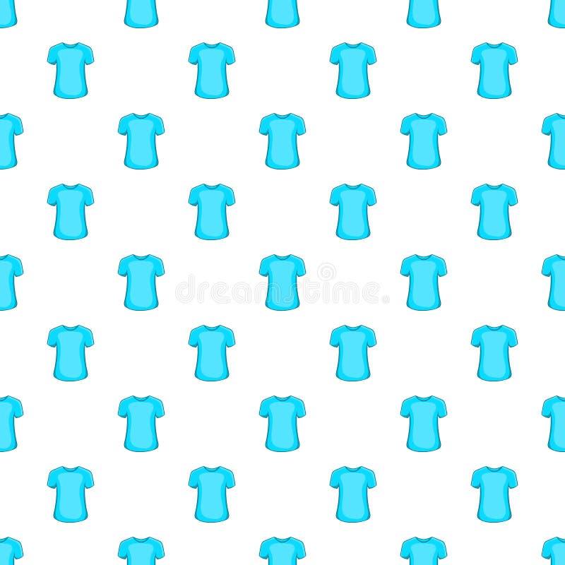 Men summer t-shirt pattern, cartoon style. Men summer t-shirt pattern. Cartoon illustration of men summer t-shirt vector pattern for web vector illustration