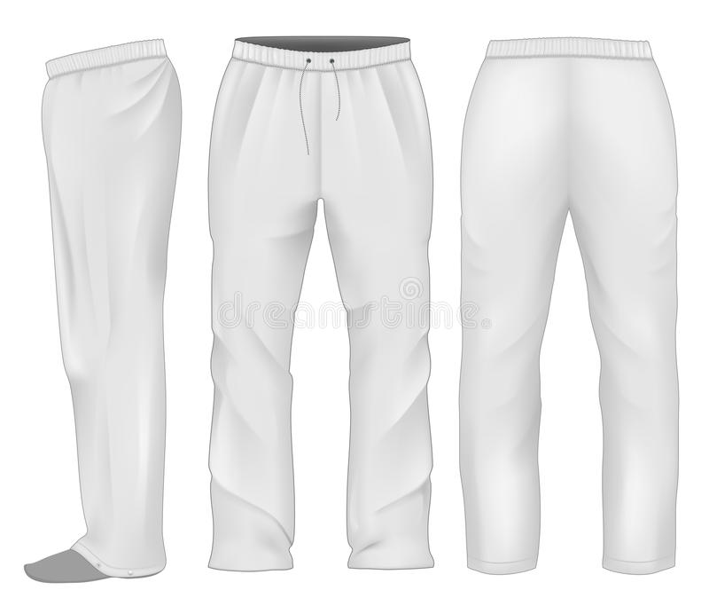 Men sweatpants white. stock illustration
