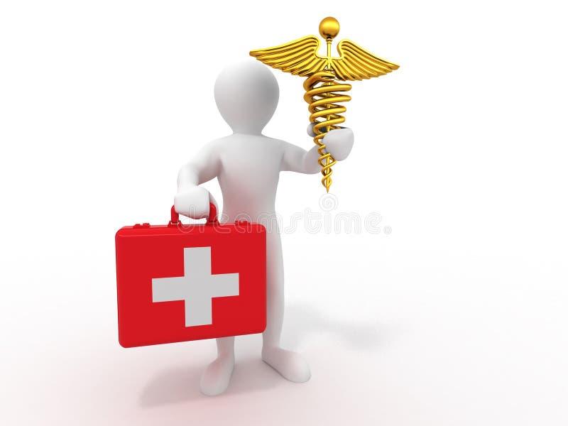 Download Men With Symbols Of Medicine. 3d Editorial Photo - Illustration: 15487966