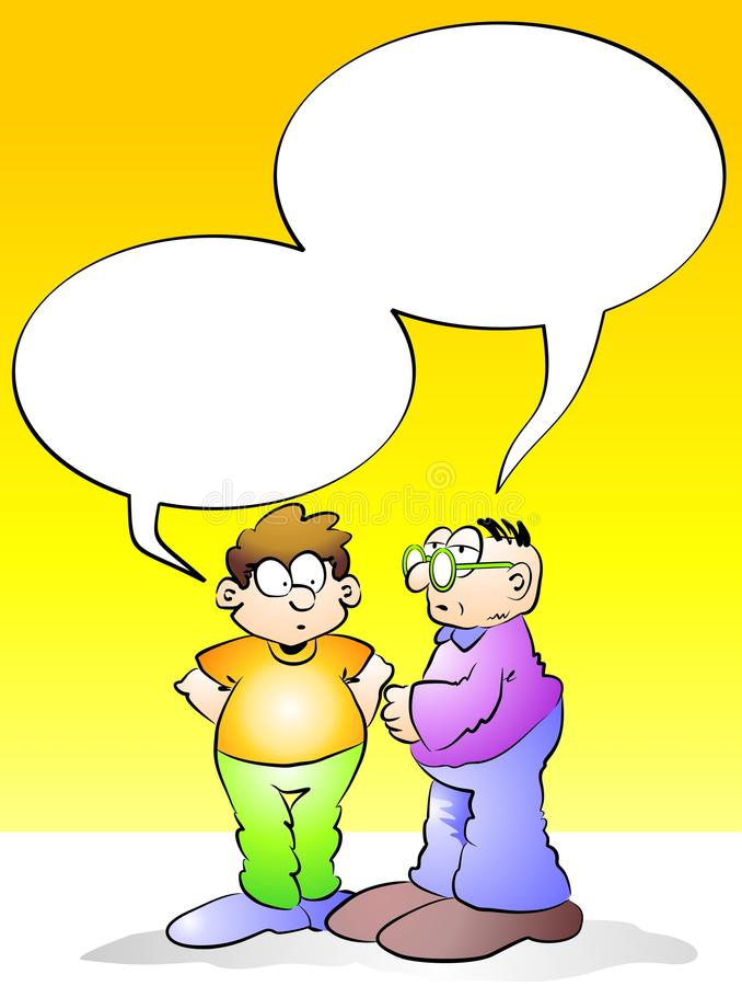 Download Men Talking With Empty Speech Bubble Stock Illustration - Image: 30713547