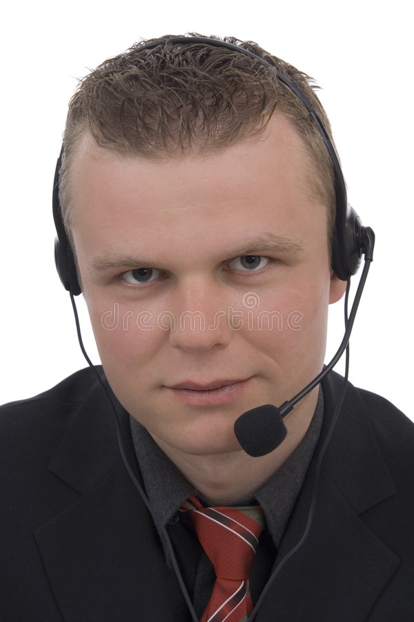 Men telephonist royalty free stock images