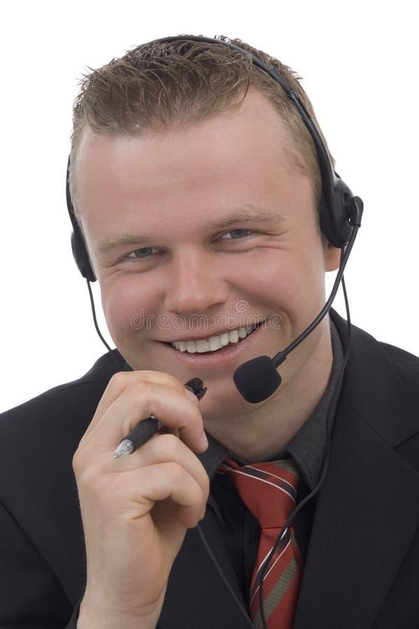 Men telephonist royalty free stock photo