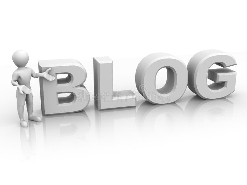 Download Men with text BLOG stock illustration. Image of bloging - 8913679