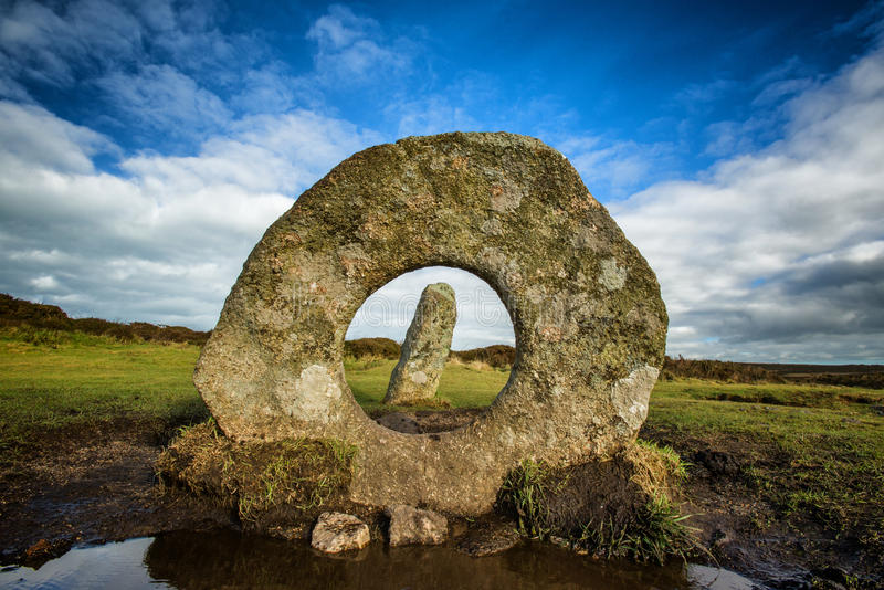 Men-an-tol. Ancient monument, near Penzance, Cornwall. United Kingdom royalty free stock photos