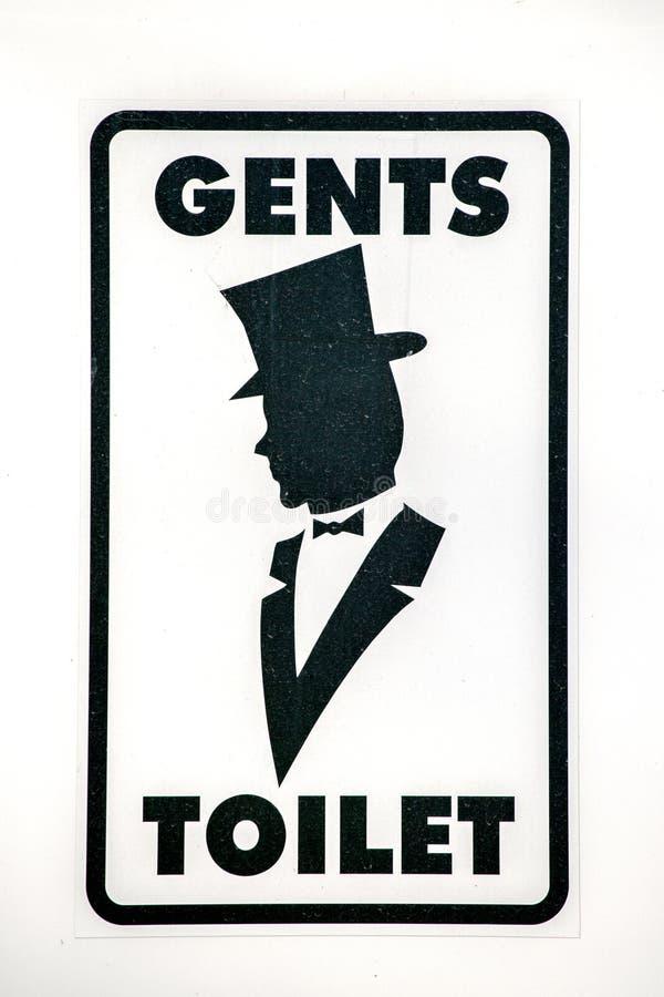 Men WC sign for restroom royalty free stock images