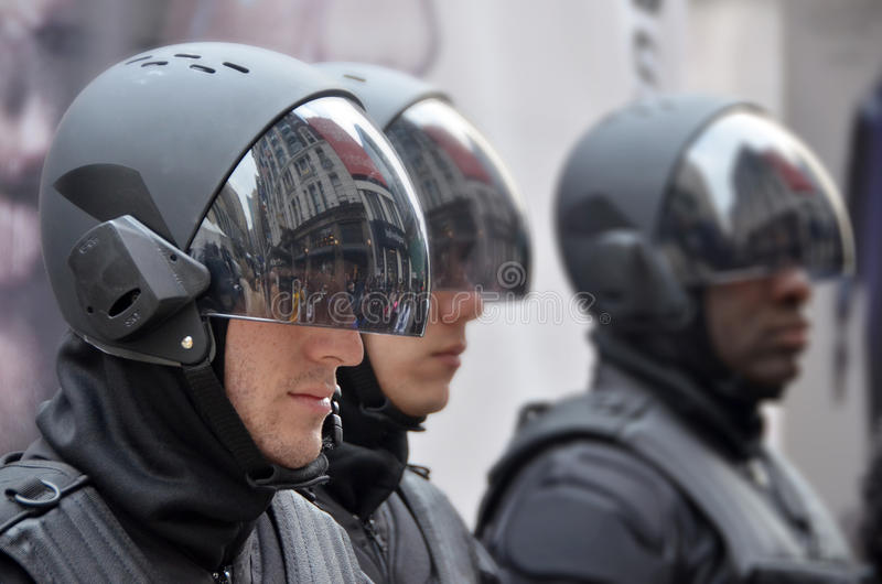 Men wear as a robot stock images