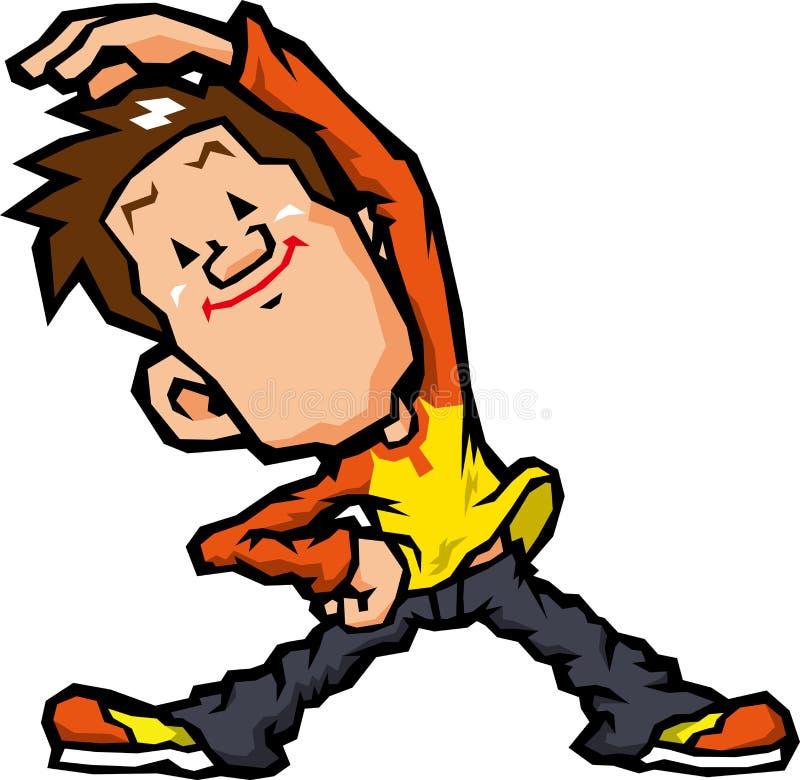 Men who exercise. For health, men who exercise vigorously royalty free illustration