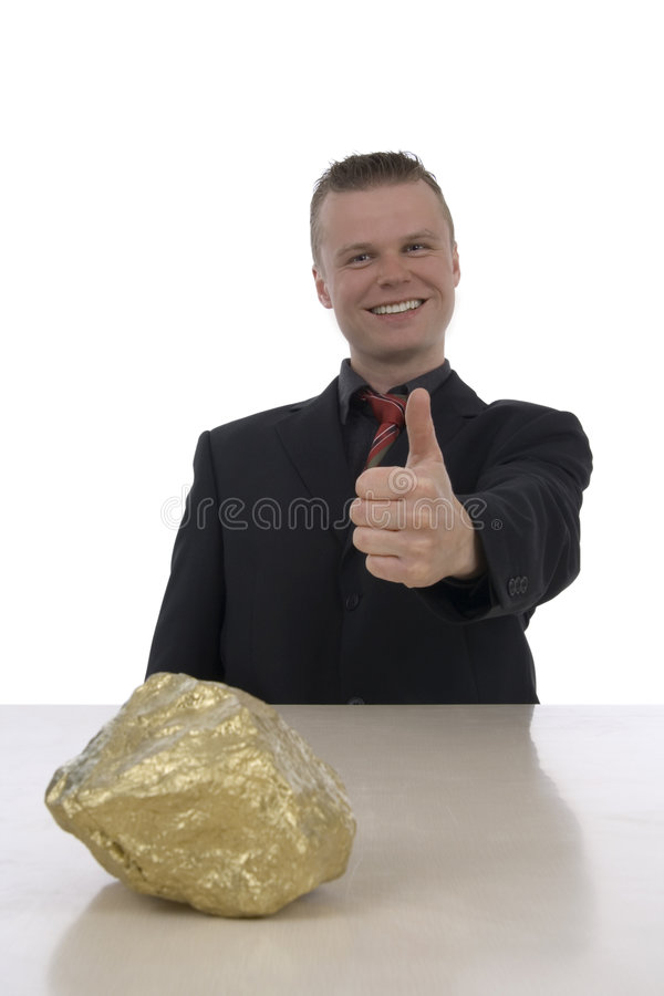 Free Men With A Gold Nugget Royalty Free Stock Photography - 5295847