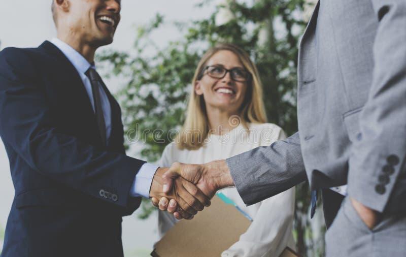 Men Women Business Agreement Hands Shake royalty free stock photos