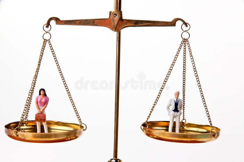 Download Men And Women On Equal Waage.Symbol Stock Photo - Image: 9790310