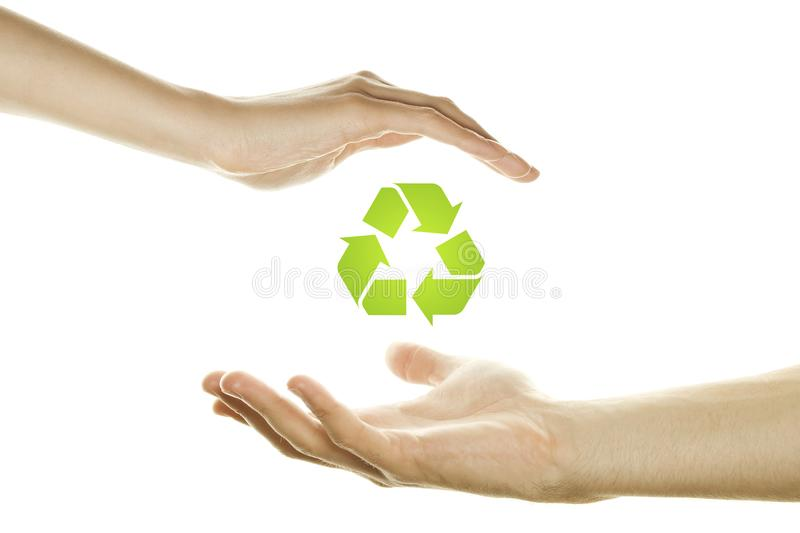 Symbology of the environment stock photos