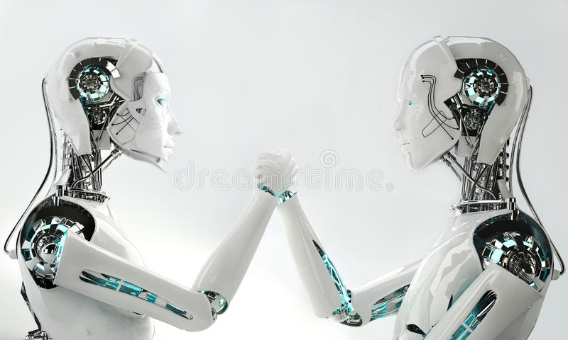 Download Men and women robot stock illustration. Image of android - 34096135