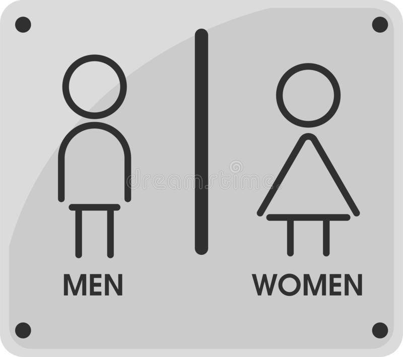 Men and Women Toilet icon themes That looks simple and modern. Illustration Vector EPS10.  stock illustration