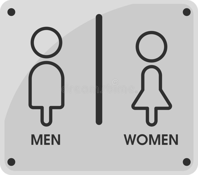 Men and Women Toilet icon themes That looks simple and modern. Illustration Vector EPS10.  vector illustration