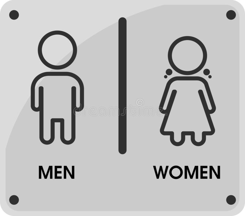 Men and Women Toilet icon themes That looks simple and modern. Vector Illustration.  royalty free illustration