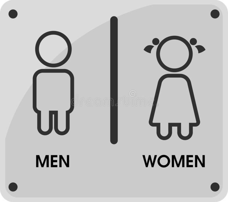 Men and Women Toilet icon themes That looks simple and modern. Vector Illustration.  stock illustration