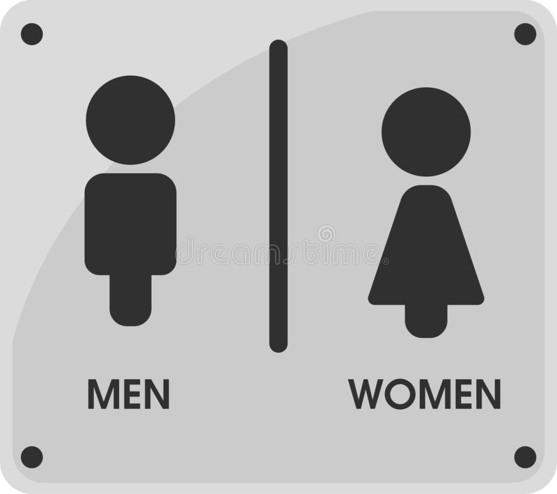 Men and Women Toilet icon themes That looks simple and modern. Vector Illustration.  vector illustration